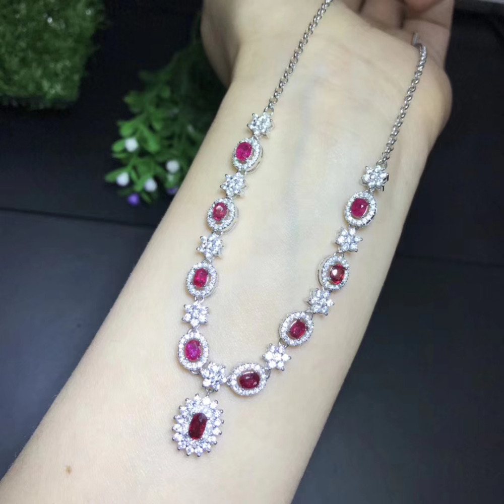 Fashionable elegant stars Natural red ruby gem Necklace Natural gemstone Pendant Necklace 925 sliver women Girl party Jewelry proleurre fishing lure 9cm 5g minnow wobblers swim bait with hooks fishing tackle artificial hard bait crankbait fishing tackle