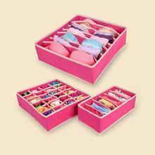 4 Teile/satz Unterwäsche Boxen Faltbare Bh vlies Aufbewahrungsbox Faltbare Fällen Socken Krawatten Unterwäsche Kleidung Container Organizer W2