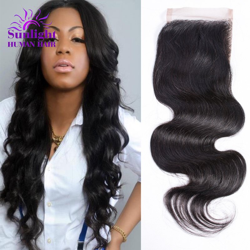 ФОТО Top Quality Malaysian Virgin Hair Body Wave Lace Closure 100% Human Hair Malaysian Body Lace Closure Can Be Bleached Knots