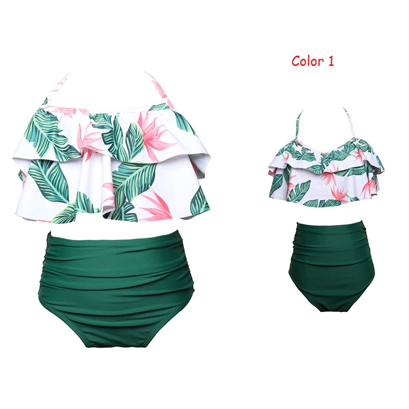 Family Matching Outfit Mother and Daughter Two Pieces Swimwear Female Children Bikini Bathing Swimsuit Beachwear Women and Girl summer beach family matching swimsuit mother daughter matching outfits women girls bikini bathing suit swimwear beachwear