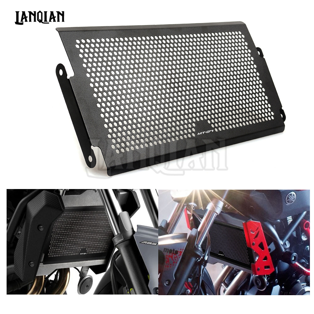 MT-07 LOGO For Yamaha MT07 MT-07 2014 2015 2016 Motorcycle Radiator Protective Cover Guards Radiator Grille Cover Protecter motorcycle radiator protective cover grill guard grille protector for kawasaki z1000sx ninja 1000 2011 2012 2013 2014 2015 2016