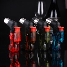 Mini Butane Jet Torch Cigarette Windproof Lighter Random Color Plastic Fire Ignition Burner NO GAS x