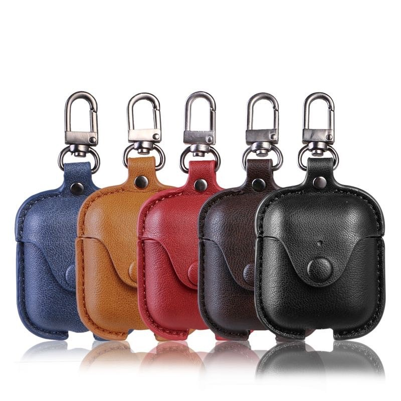 Hot Sale For Apple AirPods Cases Shatter-resistant And Waterproof Imitation Leather For Airpods Wireless Headphone Cases Box