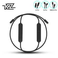KZ Apt-X Bluetooth кабель Водонепроницаемый Беспроводной Обновление модуля 4,1 MMCX/2-контактный кабель Съемный шнур для ZS10/ZSA/AS10 наушники