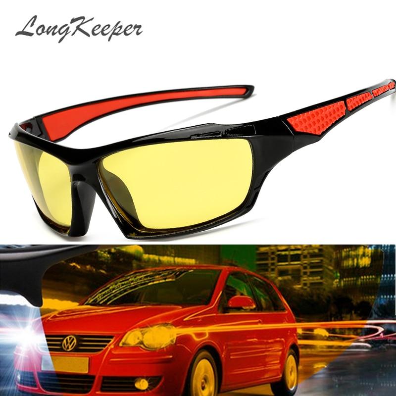 d0b7f3173a LongKeeper hombres polarizados Noche de conducción gafas de sol mujer marca  diseñador lente gafas de visión nocturna gafas de reducir el deslumbramiento