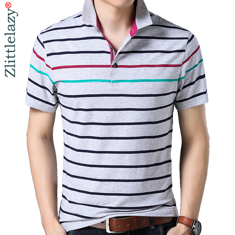 2019 brand casual summer striped short sleeve   polo   shirt men poloshirt jersey luxury mens   polos   tee shirts dress fashions 41624