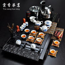 Ceramic tea set special set of Kung Fu tea three or four in one electromagnetic oven tray wood