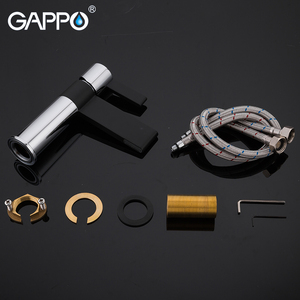 Image 5 - Gappo 샤워 수도꼭지 황동 분지의 수도꼭지 크롬과 블랙 욕실 수도꼭지 믹서 샤워 세트 벽 욕실 수도꼭지 믹서 torneira