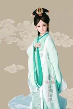Kids Adult 2 Sizes Xiao Sheng Yi Yi 2016 Spring Costume Exhibition Kids' Costume Photography Album Clothing for Little Girl yi na sheng wu s