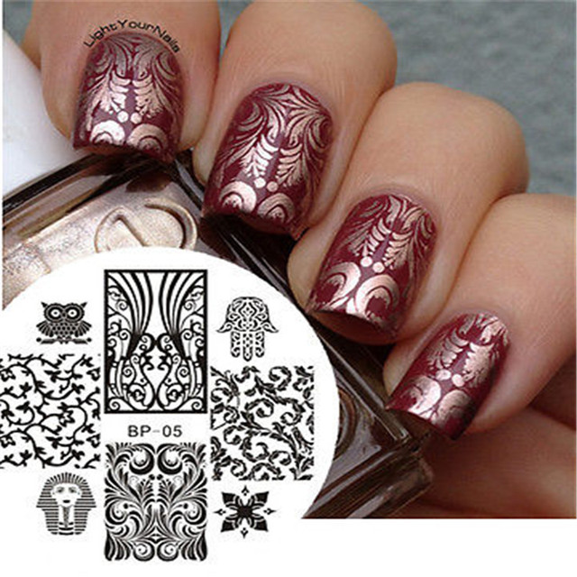 Born pretty Egipto estilo nail art sello plantilla placa de la ...