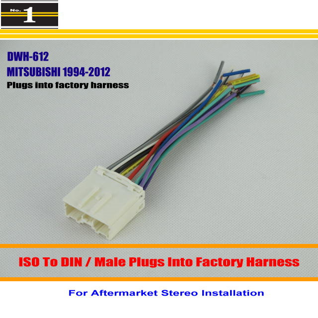 online buy whole mitsubishi wiring harness from car wiring harness for mitsubishi mirage montero outlander car stereo adapter connector plugs into