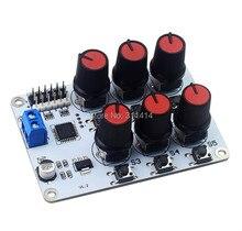 6CHロータリーノブサーボドライバ 6 チャンネル/ウェイコントローラボード過電流保護サーボテスターarduinoのdiyロボットアーム部分