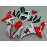 Full injection fairings sets for YAMAHA 2002 R1 2003 YZF R1 02 03 white red ABS plastic fairing parts