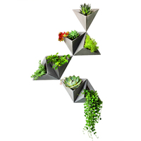 PRZY Triangle Silicone Molds Wall Hanging Type Cement Flowerpot Mold Silicone Concrete Pot Molds For Home