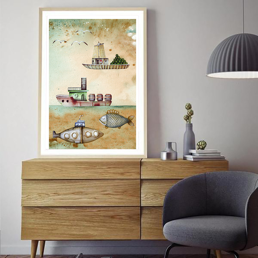 Decoracion Vintage Salon Us 6 38 29 Off Cuadro Decoracion Salon Nordic Vintage Marine Transport Boat Posters And Prints Canvas Painting Wall Art Picture For Living Room In