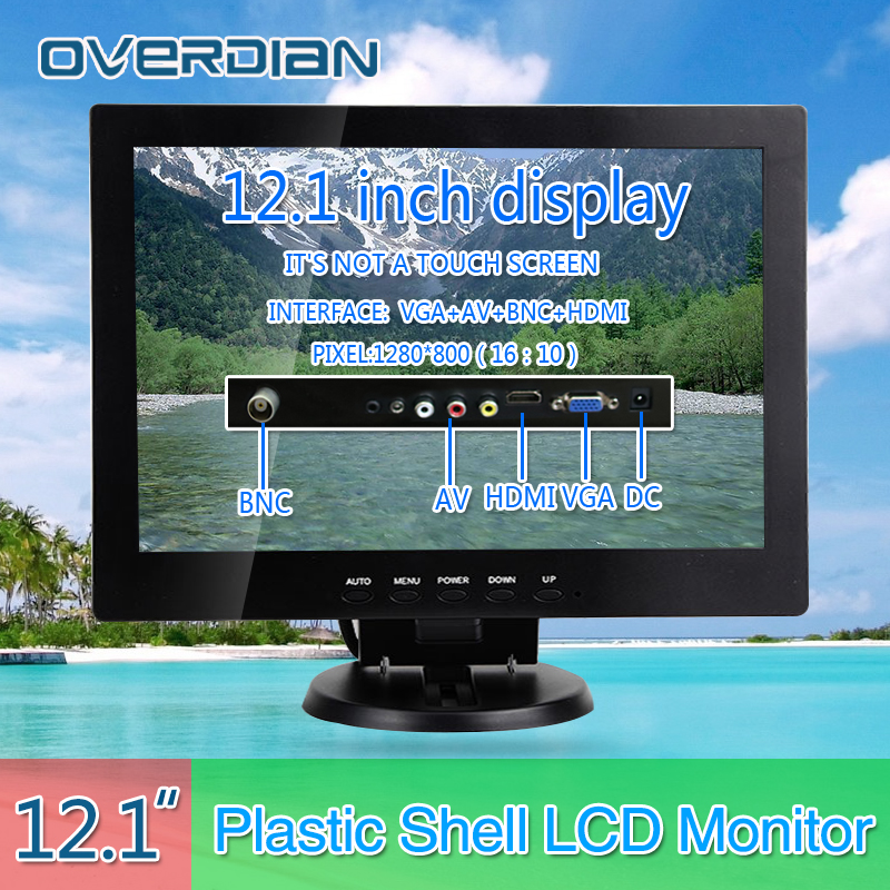 12VGA/HDMI/BNC/AV Connector Monitor 1280*800 Song Machine Cash Register Square Screen Monitor/Display Non-touch IPS Screen конвертор bnc vga каркам