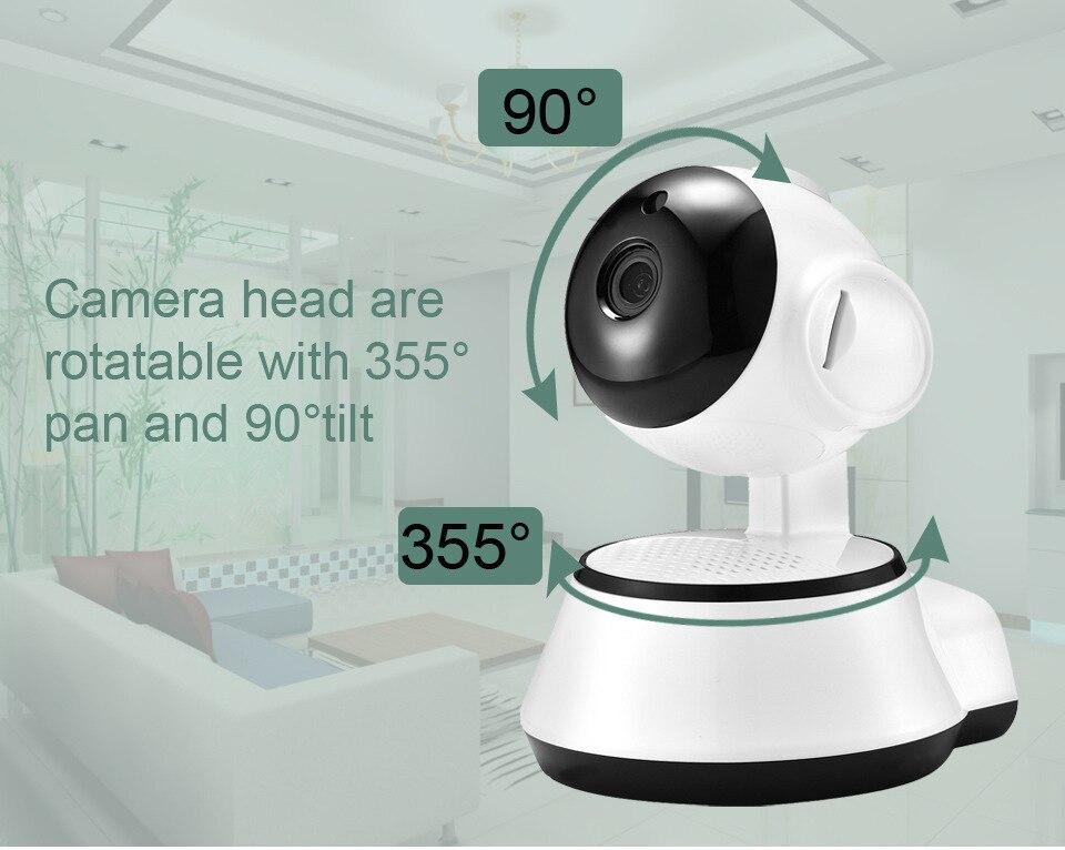 HD 720 p cámara IP Wifi cámara inalámbrica P2P vigilancia de seguridad cámara de visión nocturna IR Robot Baby Monitor