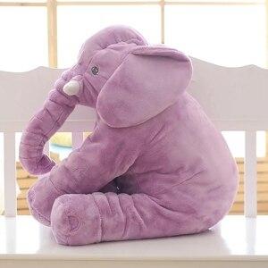 Image 5 - 1 adet 60cm moda bebek hayvan fil tarzı bebek dolma oyuncak fil peluş yastık çocuk oyuncak çocuk odası yatak dekorasyon oyuncaklar