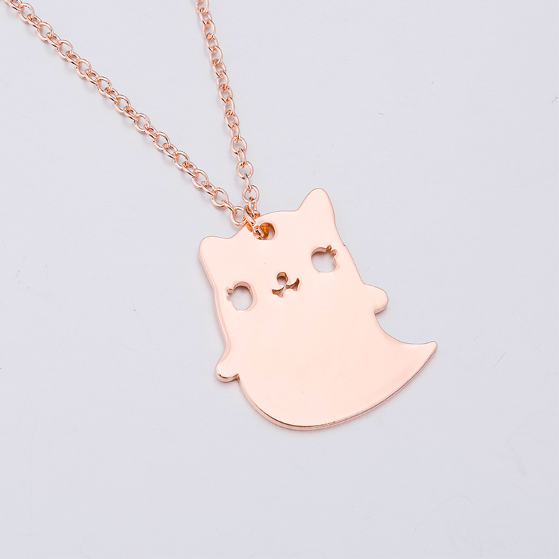 Yiustar Cat Necklace Hollow Origami Chain Pendant Necklace Fashion Necklace Animal Cartt ...