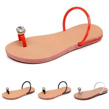 цены 2019 Summer Women Ladies Crystal Flat Sandals Sandy Beach Slippers Casual Shoes Holiday Style Clip Toe Concise Red White Black