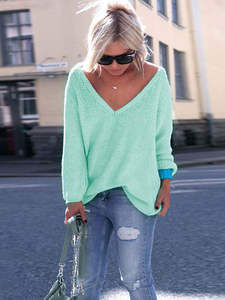 Venlilulu Spring Pullover Women Knitted Sweater Female