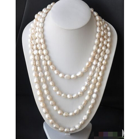 P4352 LONG 100 13mm NATURE white baroque freshwater pearl necklace  ^^^@^Noble style Natural Fine jewe FREE SHIPPINGP4352 LONG 100 13mm NATURE white baroque freshwater pearl necklace  ^^^@^Noble style Natural Fine jewe FREE SHIPPING