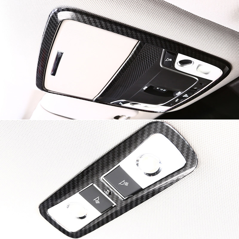 ABS Matt/ Carbon Fiber Color Interior Front and Rear Roof Dome Courtesy Lamp Trim 1PCS/2PCS For Honda Accord 10th generation 18
