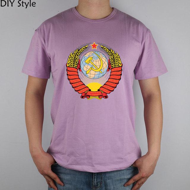 REVOLUÇÃO da URSS CCCP T-shirt Top de Lycra de Algodão de manga curta camisa Dos Homens T Novo Estilo DIY