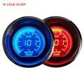 """EE apoyo Universal 2 """"52mm Digital Relojes Azul Rojo de Luz LED de Agua Temp Gauge Meter Celsius Car Accesorios XY01"""