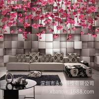 Papel De Parede Simple Modern Custom Wallpaper Sofa TV Background Wallpaper Non Woven Small Pieces Floral