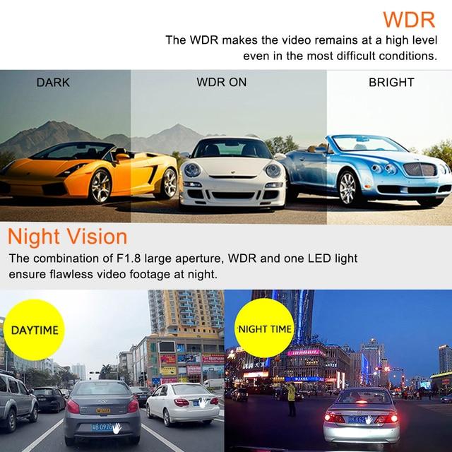 RUCCESS DVR Full HD 1080P Car DVR Camera Dash Cam 2.0 Inch Mini Car Camera Video Recorder Night Vision 150 Degree WDR Dashcam