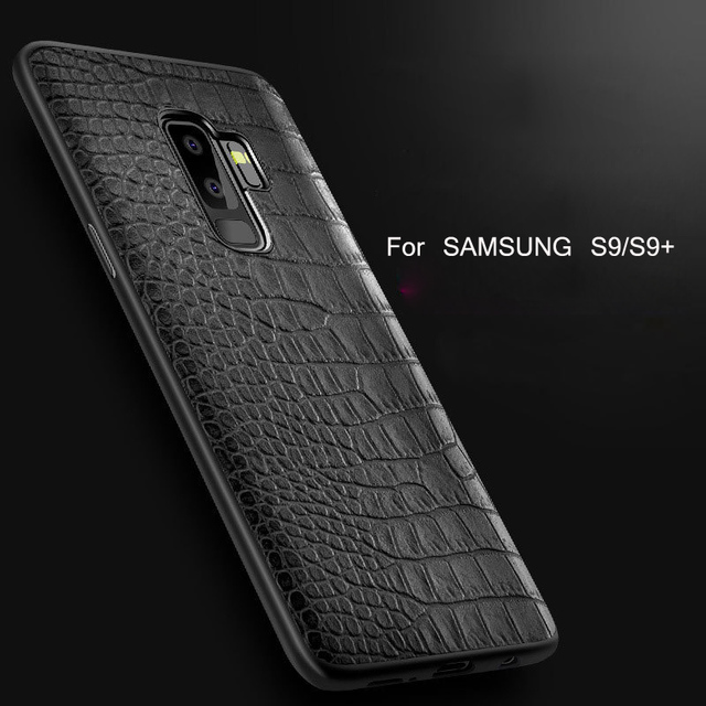 the best attitude 3b6de 276e1 US $3.99 20% OFF|Aliexpress.com : Buy For Samsung Galaxy S9 Case for Galaxy  s9 Plus Luxury Crocodile skin Leather + TPU Protective Back Cover Case For  ...