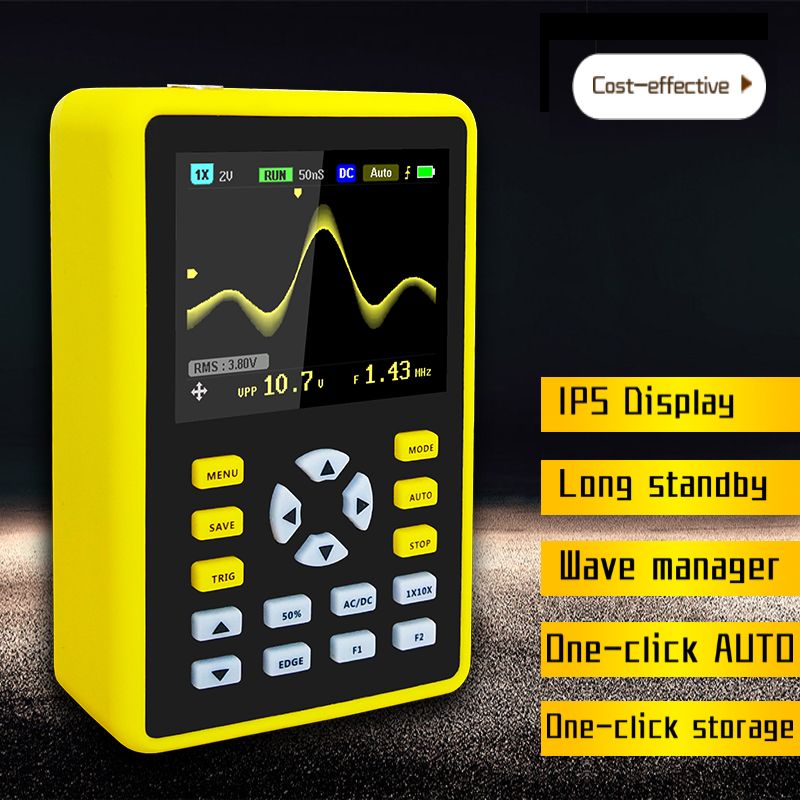 Cleqee CDS6012H Digital Oscilloscope 100MHz Analog Bandwidth 2 4 inch IPS Screen 500MS s Sampling Rate