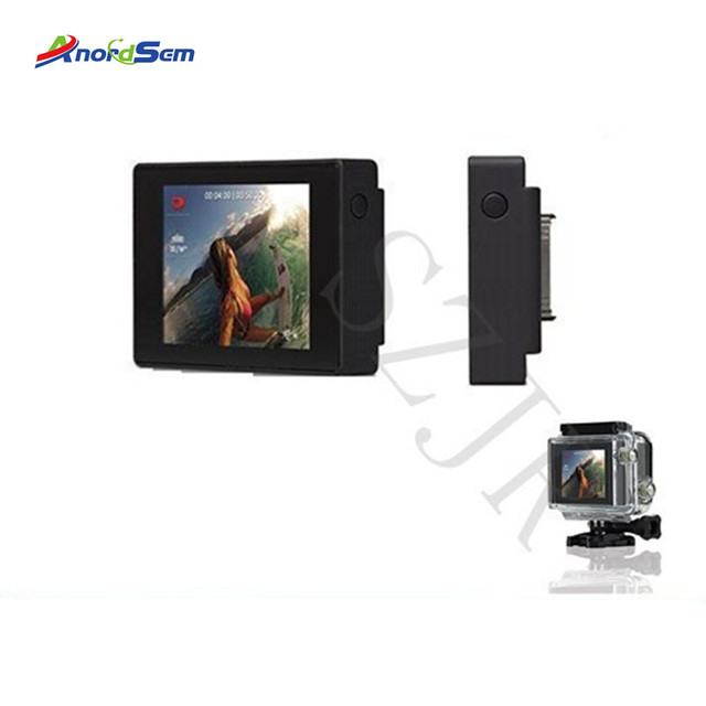 Anordsem Accessories LCD Bacpac Display Screen For Go pro Hero 3+/4  External Screen For Gopro Hero 3 Sport Camera Mount
