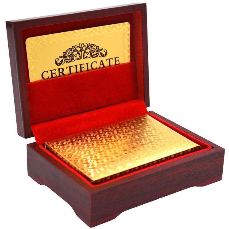 Goldfolie Spielkarten Texas Hold'em Poker Goldfolie Überzogen Poker Karte Lustige-grade Sport Freizeit Glücksspiel Pokerstars geschenk