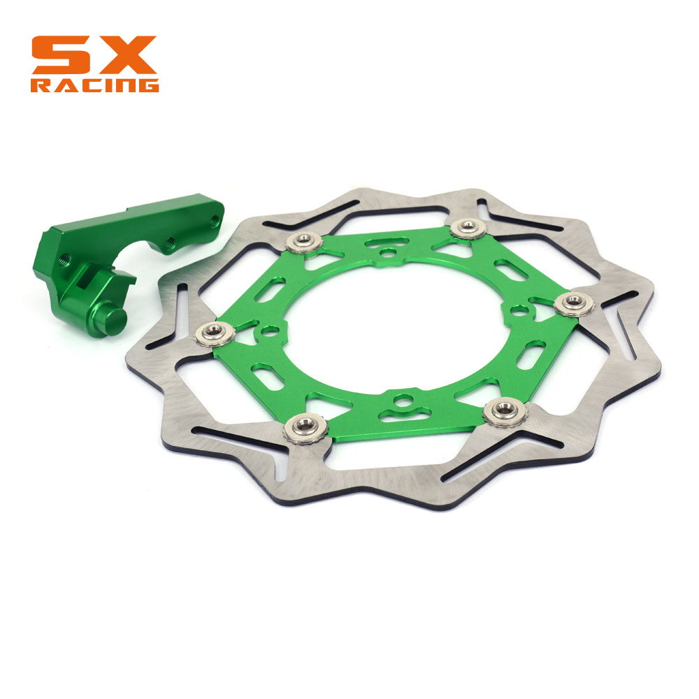 Motorcycle Front Floating Brake Disc And Bracket For KAWASAKI KX125 KX250 2006-2008 KXF250 2006-2015 KLX450R 07-15 KXF450 06-15 keoghs real adelin 260mm floating brake disc high quality for yamaha scooter cygnus modify