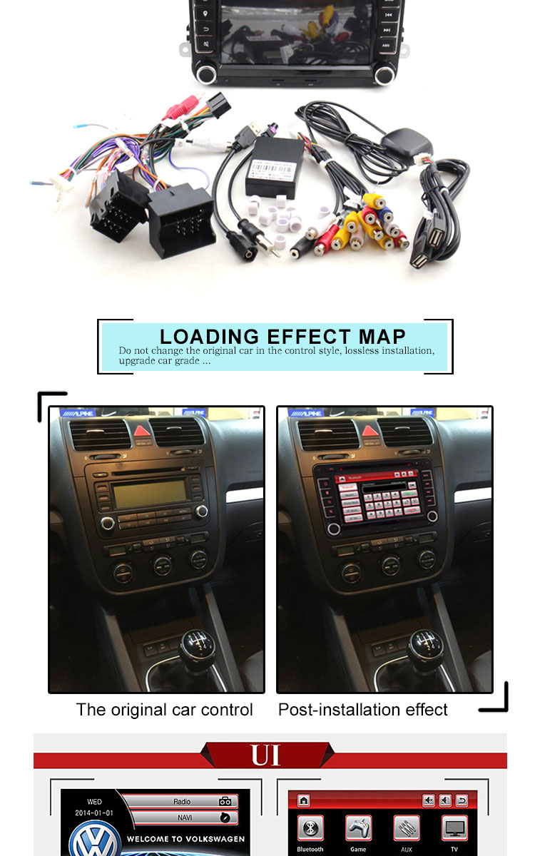 Ljda 2 Din 7 Inch Car Dvd Player For Vw Golf 6 5 Passat B7 Cc Automobile Interior Lights Fader If You Have Any Question About Installation Please Contact Usif Doubts Before Buy Can Send Dashboard Picture To Our Check
