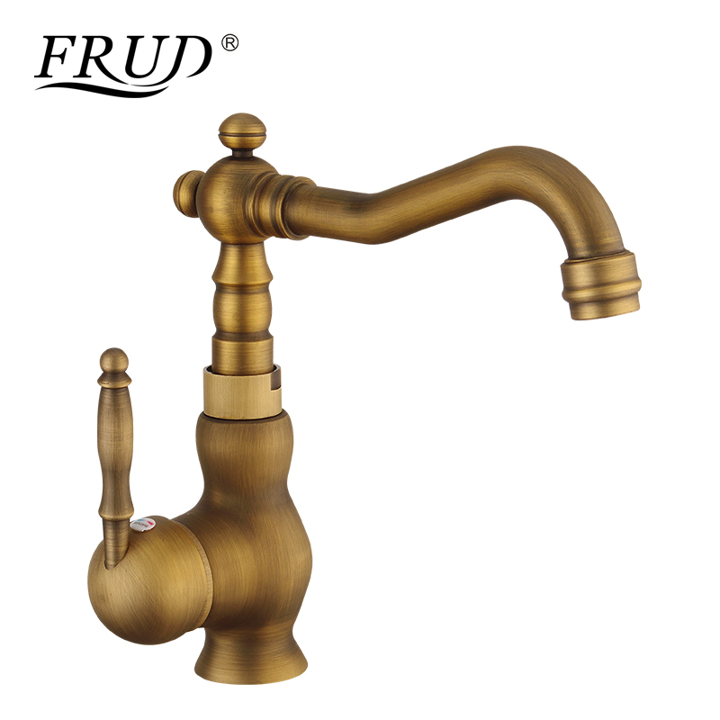 FRUD Brass faucet Metered faucet Single Handle Brushed Easy installation Crane Mixer Classic Design Cold and Hot Mixter Y10091FRUD Brass faucet Metered faucet Single Handle Brushed Easy installation Crane Mixer Classic Design Cold and Hot Mixter Y10091