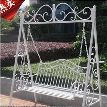 Limited Value Is Customizable Outdoor Swing Double Rocking Chair White Simple And Elegant Wrought