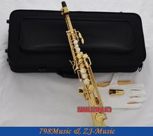 Professional Electrophoresis Gold   Eb Sopranino saxophone sax low Bb to high E-Pearl Buttons