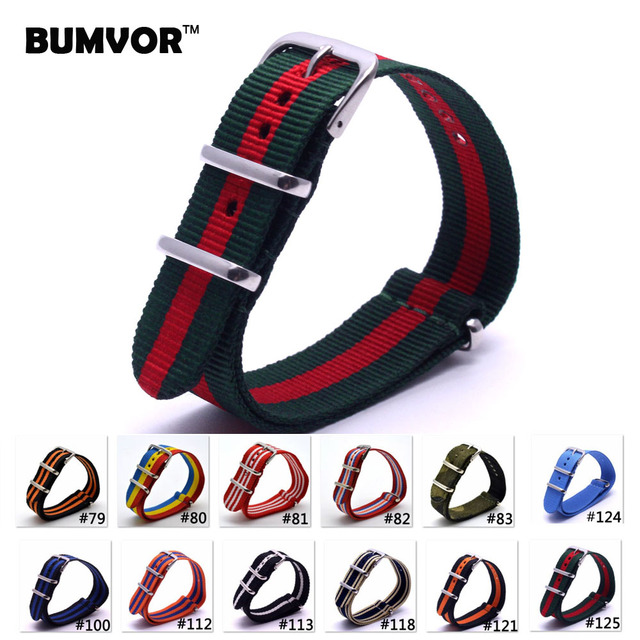 1pcs Nato Strap 22mm Nylon Watch Band Waterproof Watch Strap On For Hours men wa