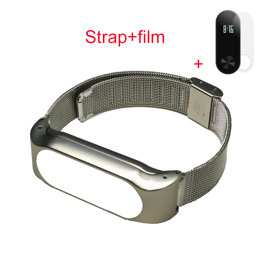 Mi Band Strap Metal Xiaomi 2 Oled Replacement Stainless Steel Mijobs Silver Us 820 Fontbmetal B Font