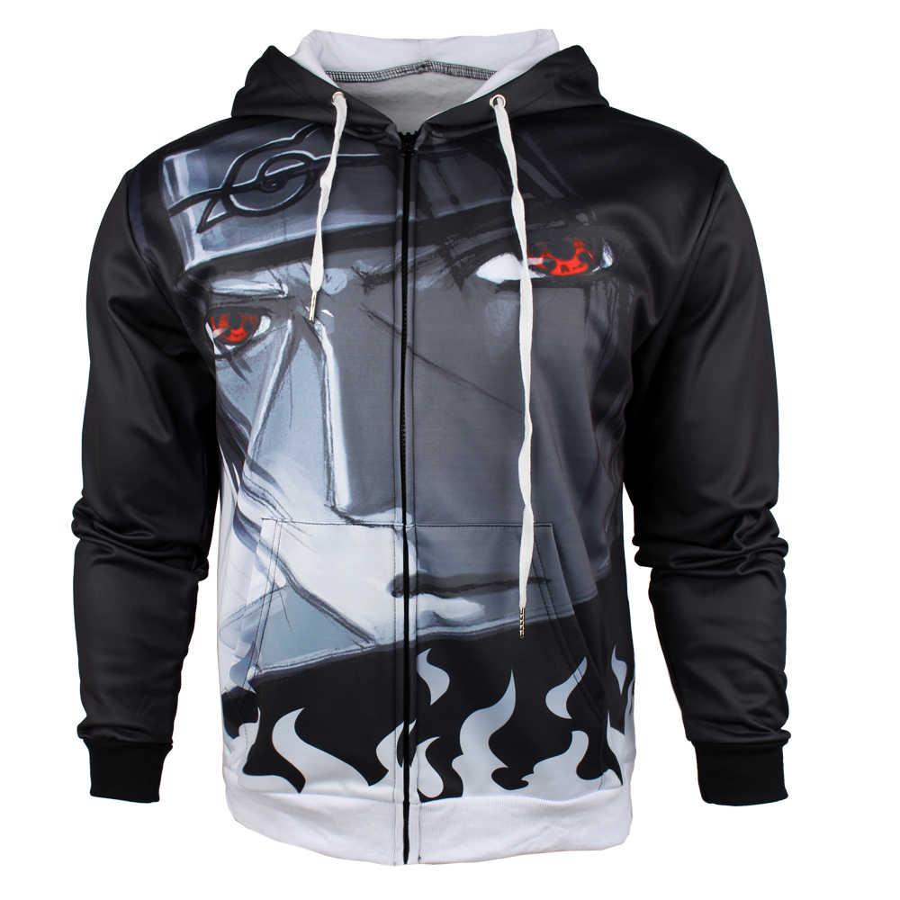 Winter jackets and coat naruto hoodie anime uchiha sasuke hooded thick men sweatshirts dykhmily sasuke zip