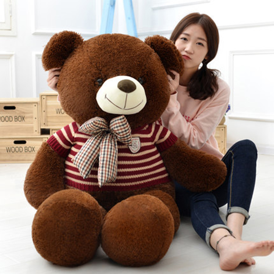 Funny Stuffed Plush Animals Large Girls Soft Giant Teddy Bear Birthday Gifts Knuffel 50A0071 fancytrader biggest in the world pluch bear toys real jumbo 134 340cm huge giant plush stuffed bear 2 sizes ft90451
