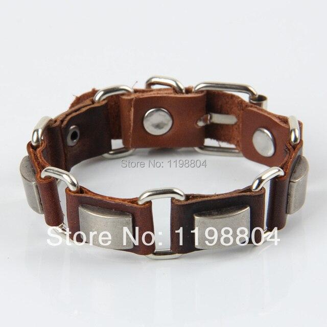Psl243 Alloy Leather Band New Personalized Bracelets Whole Italian