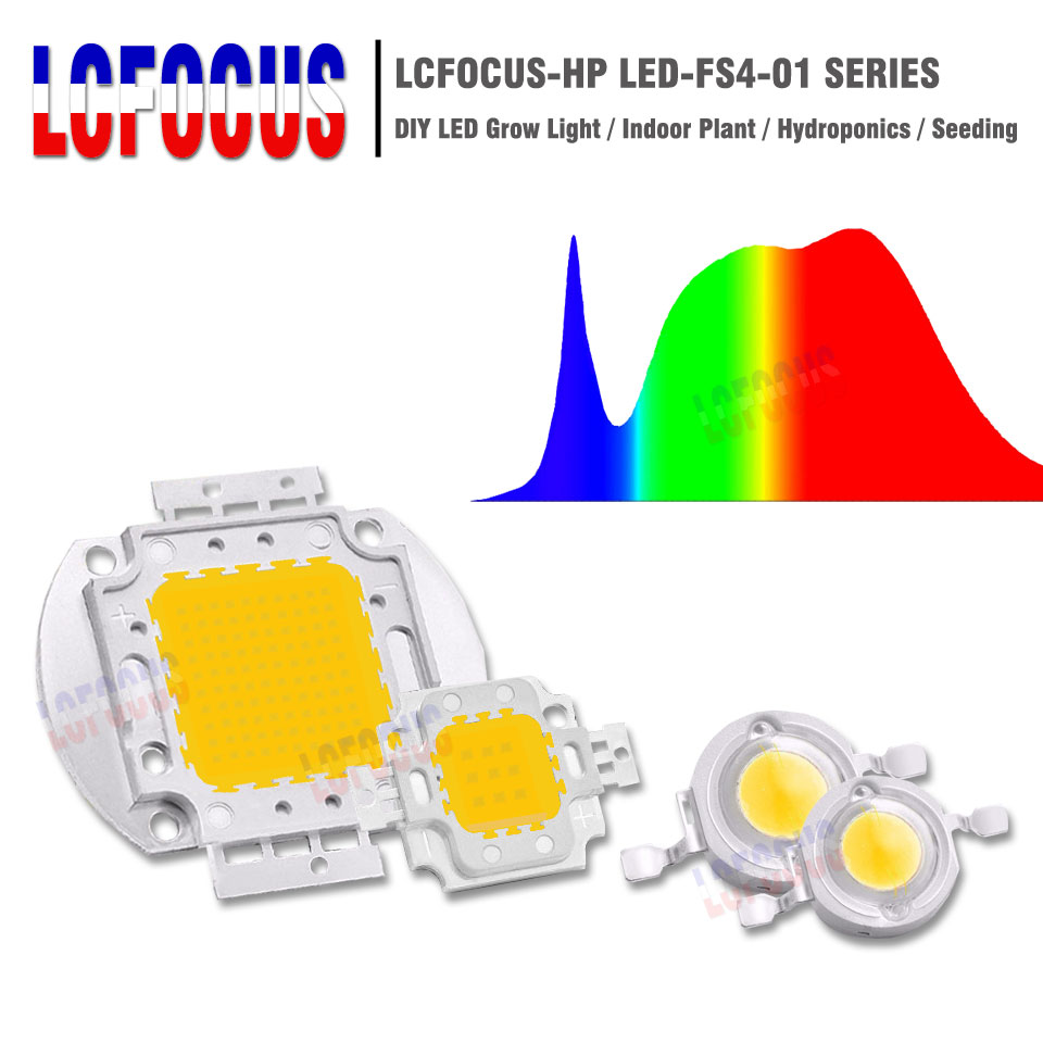 1W 3W 5W 10W 20W 30W 50W 100W LED Grow Light Chip COB Full Spectrum 380-840nm For Indoor Plant Vegetable Flower Seeding Growing(China)