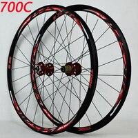 700C disc brake road wheels road bicycle disc brake road bike V/C brak 30MM alloy rim 700C/29inch Cross country road bike wheel