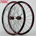 700C дисковые тормозные шоссейные колеса дорожный велосипед дисковый тормоз дорожный велосипед V/C brak 30 мм сплав обод 700C/29-дюймовое колесо для ...