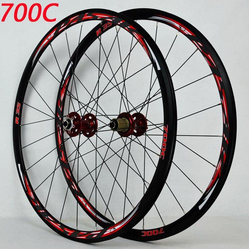 700C frein à disque roues de route vélo de route frein à disque vélo de route V/C brak 30 MM jante en alliage 700C/29 pouces roue de vélo de route de fond