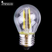 IMINOVO 20 Pcs Edison Lâmpada LED G45 E27 Dimmable Filamento Retro globo Lâmpada 110 V 220 V 2 W Luz Iluminação Interior Sala de estar Do Vintage